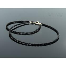 Naszyjnik - czarne spinele 0,2 mm