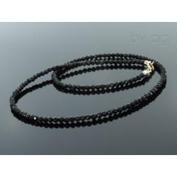 Naszyjnik - spinele - czarne  -  0,3 cm