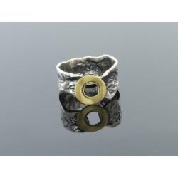 Obrączka srebrna ba z paskiem miedzi3