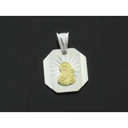 Wisiorek bs medalik pozłacany MD078z
